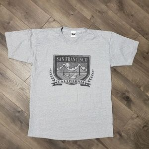 Vintage Shirts - Vintage Pinstripe San Francisco California Tee